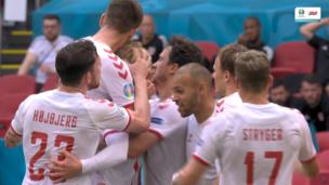 Уэльс — Дания. Евро-2020. 0:1 — видео гола Каспера Дольберга