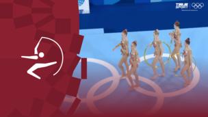 Олимпиада-2020. Художественная гимнастика (жен). Групповое многоборье. Финал. Обруч, булавы. Команда (ОКР). Полное видео