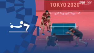 Олимпиада-2020. Настольный теннис (муж). Командное первенство. Матч 1. 1/2 финала. Япония — Германия. Видео обзор