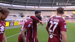 Торино — Рома. Серия А. 1:1 — видео гола Антонио Санабрии