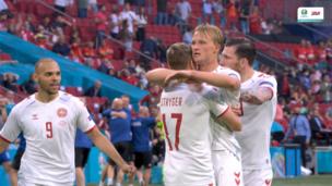 Уэльс — Дания. Евро-2020. 0:2 — видео дубля Каспера Дольберга