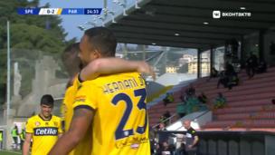 Специя — Парма. Серия А. 0:2 — видео гола Эрнани