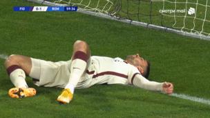 Фиорентина — Рома. Серия А. 1:1 — видео автогола Леонардо Спинаццолы