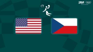 Олимпиада-2020. Баскетбол (муж). США — Чехия