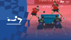 Олимпиада-2020. Настольный теннис (муж). Командное первенство. Матч 1. Финал. Китай — Германия. Видео обзор