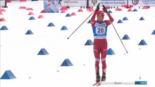 Как Большунов убежал от Якимушкина на последнем этапе эстафеты