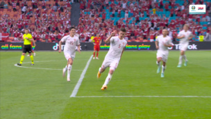Уэльс — Дания. Евро-2020. 0:3 — видео гола Йоакима Мехле