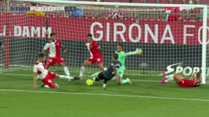 Жирона — Райо Вальекано. Плей-офф за выход в Примеру. 0:2 — видео гола Оскара Трехо