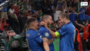 Италия — Англия. Евро-2020. 1:1 — видео гола Леонардо Бонуччи