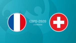 Франция — Швейцария. Евро-2020. 1/8 финала