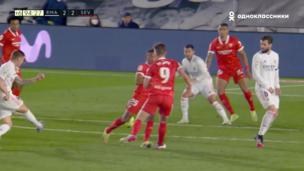 Реал — Севилья. Ла Лига. 2:2 — видео автогола Диего Карлоса