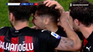 Ювентус — Милан. Серия А. 0:1 — видео гола Браима Диаса