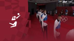 Церемония награждения. Волейбол (муж). Команда ОКР. Франция. Аргентина. Олимпиада-2020. Видео