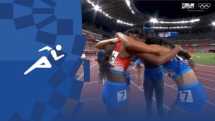Олимпиада-2020. Легкая атлетика (жен). Эстафета. 4×400 м. Финал. Полное видео