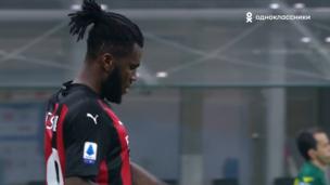 Милан — Удинезе. Серия А. 1:1 — видео гола Франка Кесси