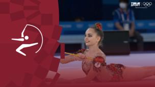 Олимпиада-2020. Художественная гимнастика (жен). Финал. Булавы. Арина Аверина (ОКР). Полное видео