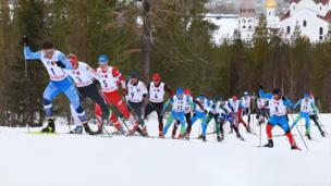 Масс-старт. Мужчины. ЧР по лыжным гонкам 2021