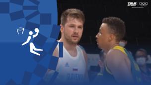 Олимпиада-2020. Баскетбол (муж). За 3-е место. Словения — Австралия. Видео моменты