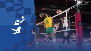 Олимпиада-2020. Волейбол (жен). 1/2 финала. Бразилия — Корея. Видео моменты