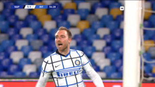 Наполи — Интер. Серия А. 1:1 — видео гола Кристиана Эриксена