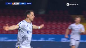 Беневенто — Верона. Серия А. 0:3 — видео гола Кевина Лазаньи