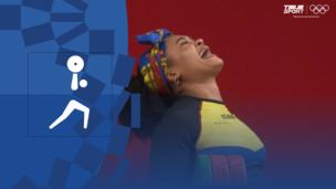 Олимпиада-2020. Тяжелая атлетика (жен). До 76 кг. Финал. Видео моменты