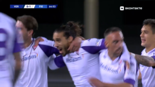 Верона — Фиорентина. Серия А. 0:2 — видео гола Мартина Касереса