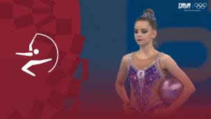 Олимпиада-2020. Художественная гимнастика (жен). Финал. Мяч. Дина Аверина (ОКР). Полное видео