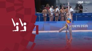 Олимпиада-2020. Синхронное плавание. Команды. Произвольная программа. Команда ОКР. Полное видео