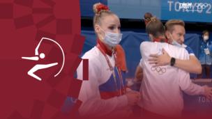 Серебряные слезы: эмоции российских гимнасток после проигрыша Болгарии в групповом многоборье на Олимпиаде