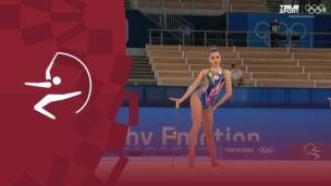 Олимпиада-2020. Художественная гимнастика (жен). Финал. Булавы. Дина Аверина (ОКР). Полное видео