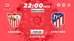 Севилья — Атлетико. Ла Лига. 29 тур