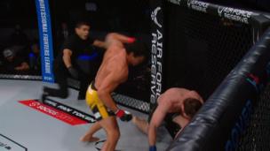 Бразилец молниеносно нокаутировал американца на турнире PFL 2
