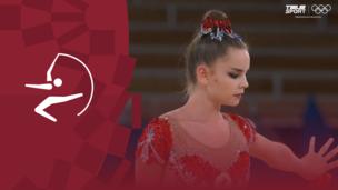 Олимпиада-2020. Художественная гимнастика (жен). Финал. Лента. Дина Аверина (ОКР). Полное видео
