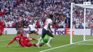 Англия — Дания. Евро-2020. 1:1 — видео автогола Симона Кьера