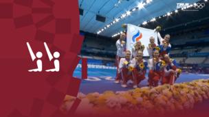 Церемония награждения. Синхронное плавание. Команды. Олимпиада-2020. Видео