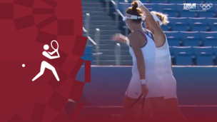 Олимпиада-2020. Теннис (ж).Пары. Матч за 3-е место. Команда ОКР — Бразилия. Видео обзор